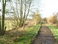 Old railway line looking away from Garbetts Way entrance